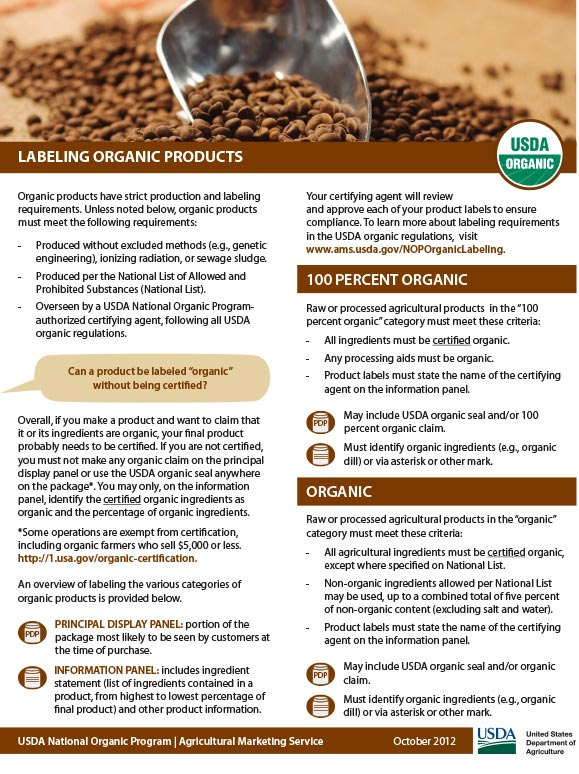 Labeling-Organic-Products-Fact-Sheet