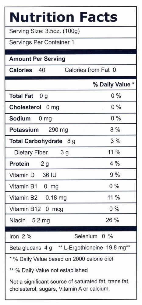 Eringi nutrition facts