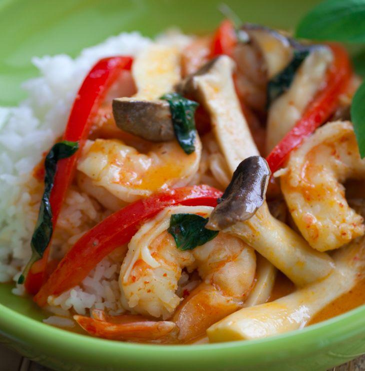 10 Minute Shrimp and King Trumpet Curry | Hokto Kinoko Company