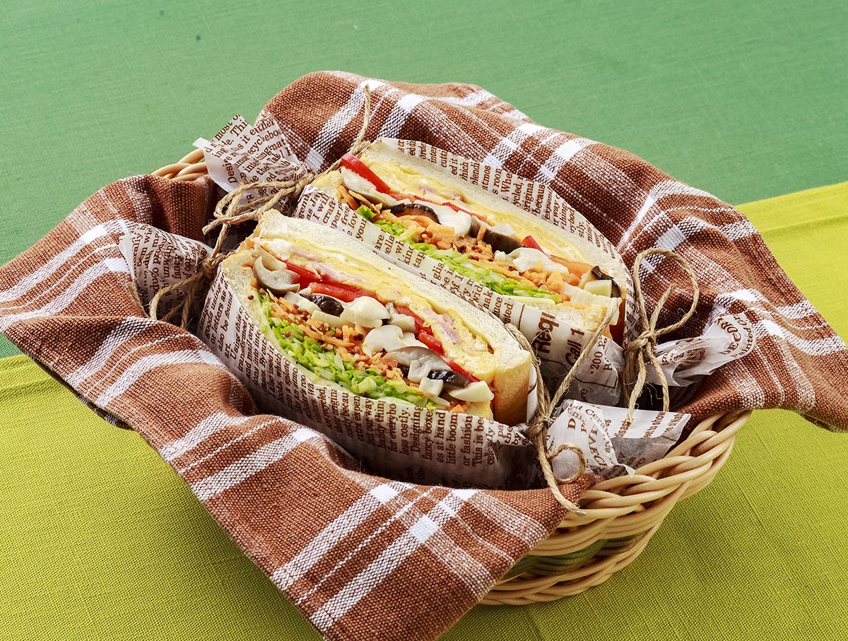 Mushroom Breakfast sandwich